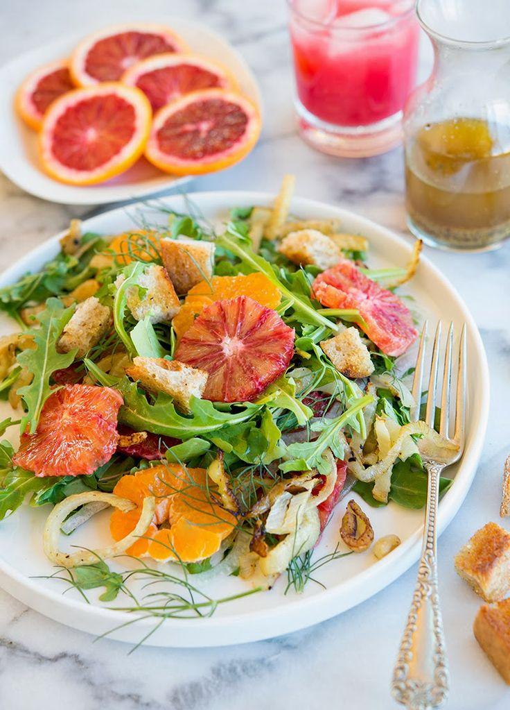 Wild Greens and Sardines : Blood Orange and Roasted Fennel Salad