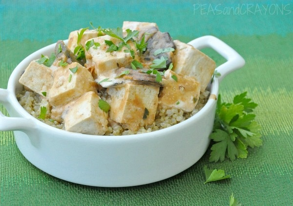 Tofu Stroganoff / mushrooms / tofu / vegetable broth / plain greek ...
