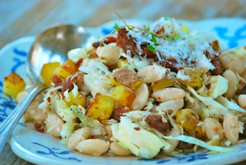 Cabbage, White Beans, and Bacon | Deelish - Sides | Pinterest