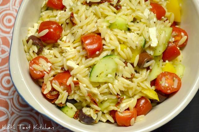 ... sun dried tomatoes. Orzo Greek Salad with Lemon Oregano Vinaigrette