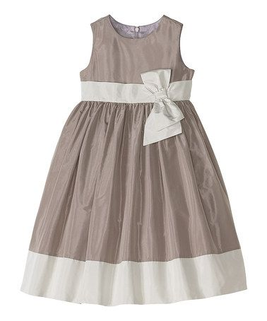 Take a look at this Light Gray Chloe A-Line Dress - Infant, Toddler & Girls by Hanna Andersson on #zulily today!