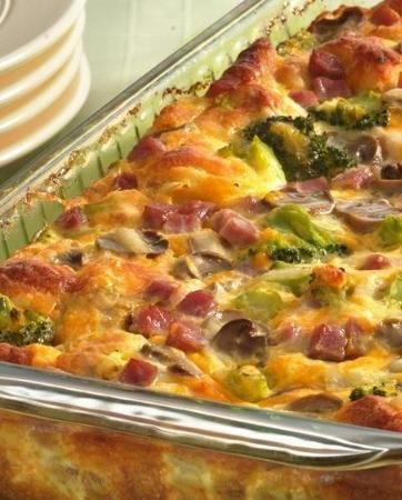 Ham and Cheese Omelet Bake | Recipe