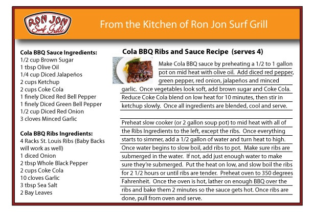 Cola BBQ Ribs and Sauce Recipe | Foods & Cupcakes | Pinterest