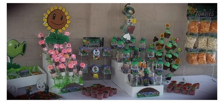 Fiesta de plants vs zombies decoraci n para fiestas for Decoracion pared infantil