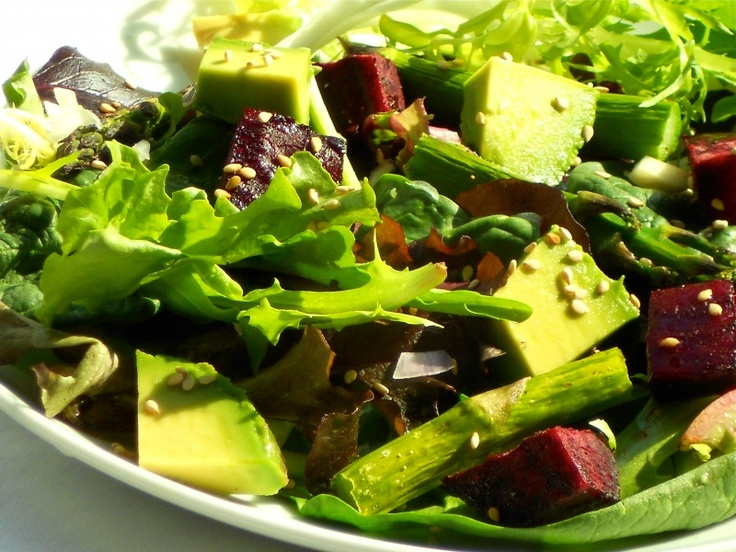 Beet, asparagus, and avocado salad. | Recipes | Pinterest