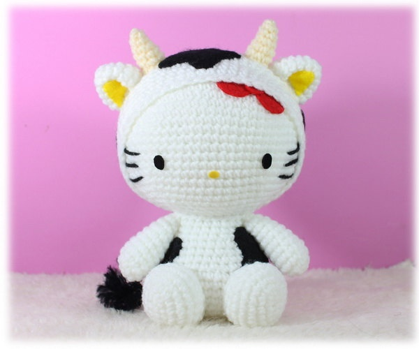 Hello Kitty Amigurumi Modelleri : Amigurumi Hello Kitty in Ox Amigurumi Pinterest