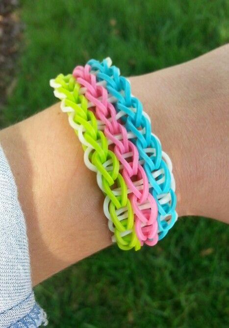 Triple Single Rainbow Loom Bracelet | Rainbow Loom | Pinterest
