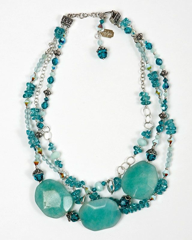 chunky turquoise necklace things i want to make