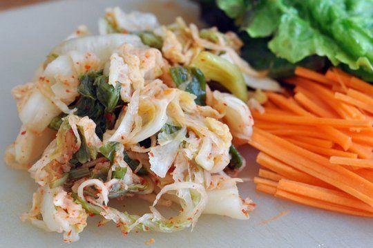 Kimchi Tofu Summer Rolls