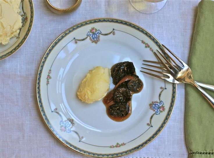 Drunken Honeyed Figs With Lemon Mascarpone Whipped Cream ...