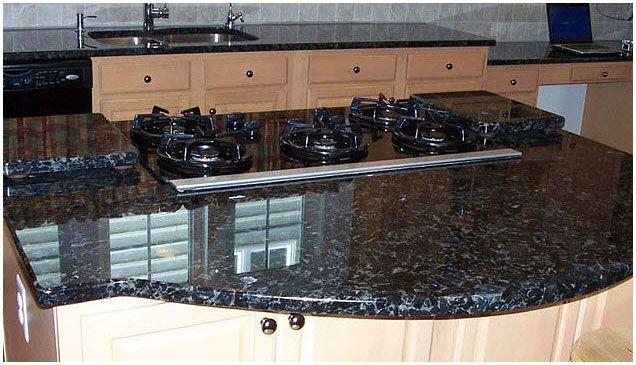 Volga Blue Granite Counter Tops Kitchen Pinterest