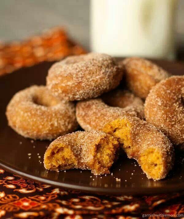 Pumpkin Spice Mini Donuts | Dessert | Pinterest