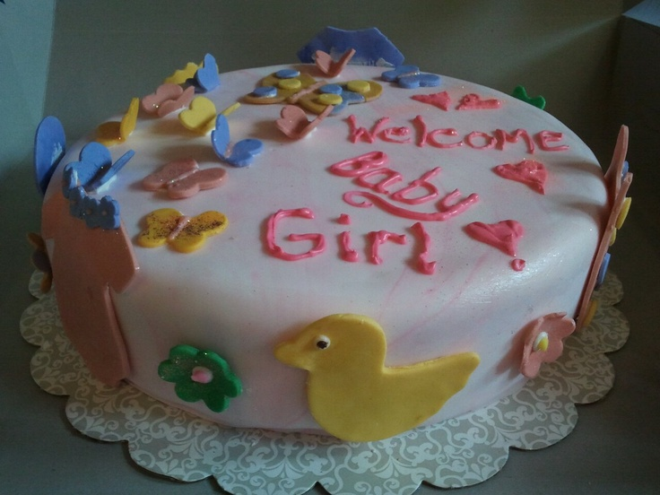 Baby shower fondant cake. recipes Pinterest