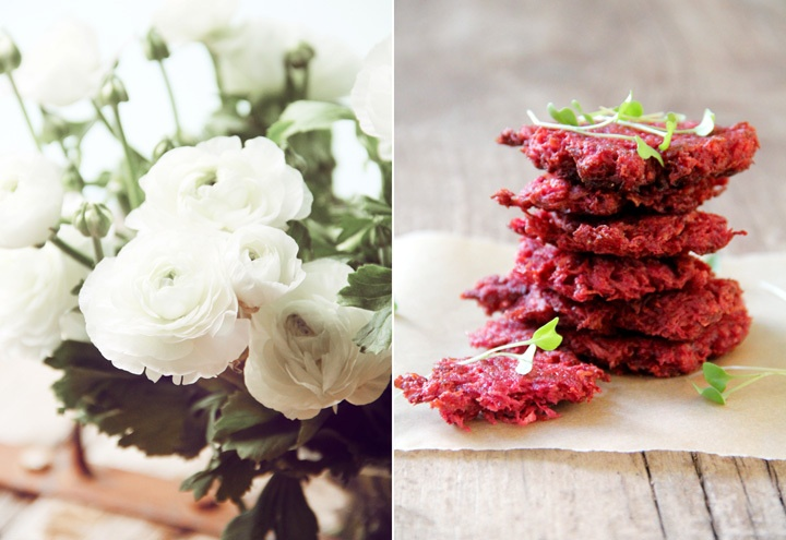 Beet and White Carrot Latkes | Fall Recipes | Pinterest