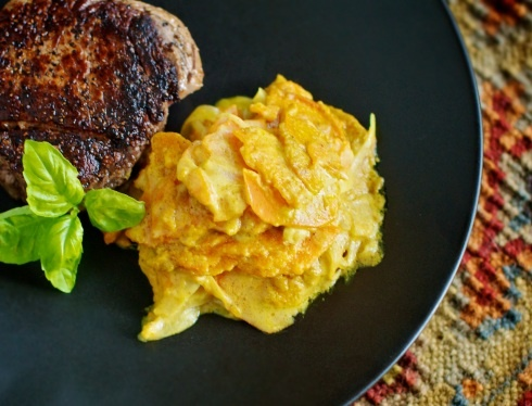 Curried Sweet Potato Gratin | Paleo Side Dish | Pinterest