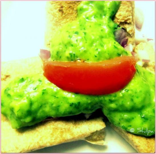 ... this cilantro, avocado, lime sauce tonight for vegan enchiladas