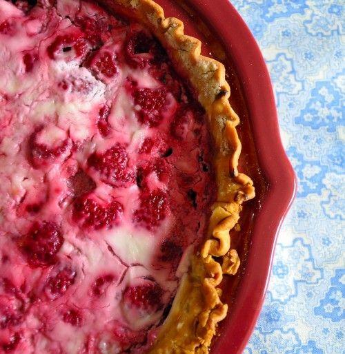 Sour Cream Raspberry Pie | Sugar High | Pinterest