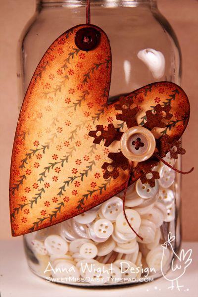 I love decorated Mason Jars. :)