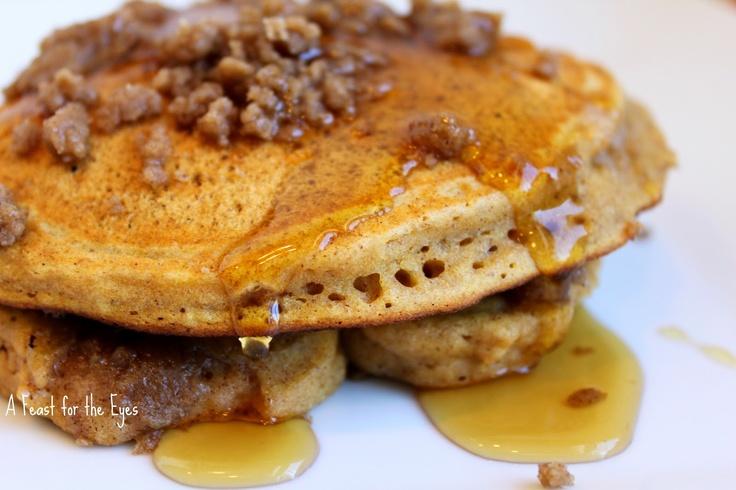 Pumpkin-Cinnamon Streusel Pancakes | breakfest | Pinterest