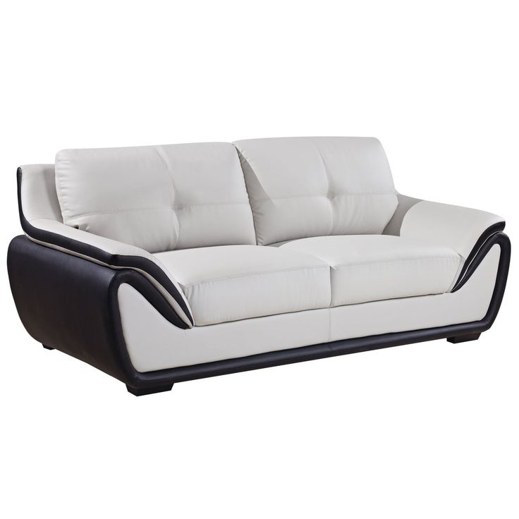 This chic sofa features a big plush back and box seat cushions