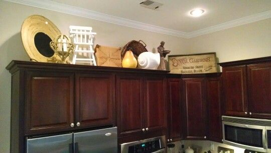 decorating above kitchen cabinets for the home pinterest