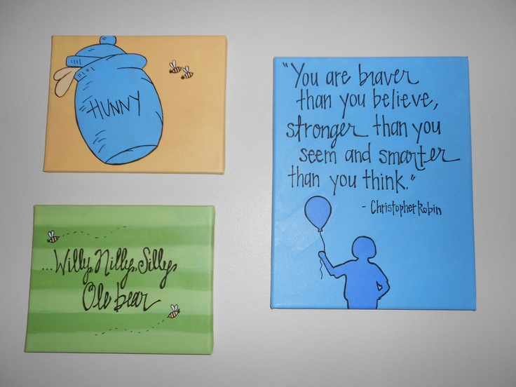 Winnie The Pooh Nursery Wall Art Maybe Baby Pinterest