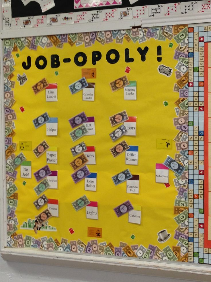 Classroom Job Ideas For Kindergarten : Job opoly classroom board bulletin ideas