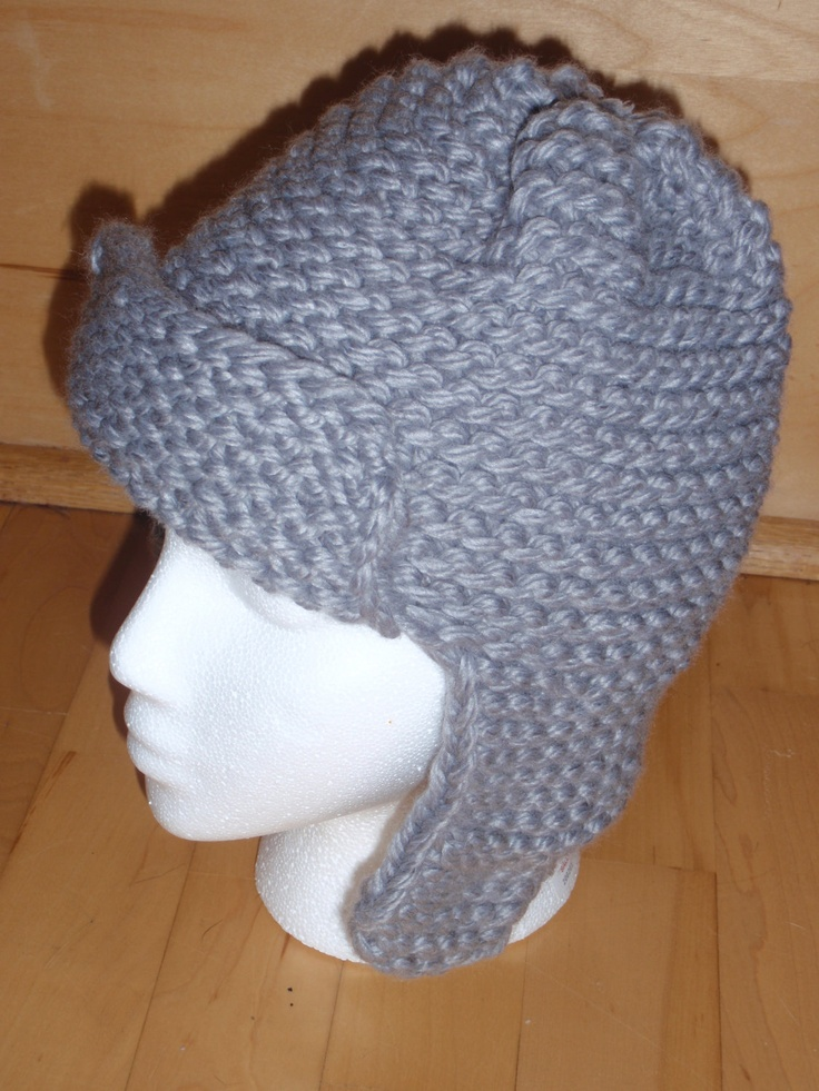 Knitting Loom Pattern : Loom knit pattern for a bomber style hat Instant Download