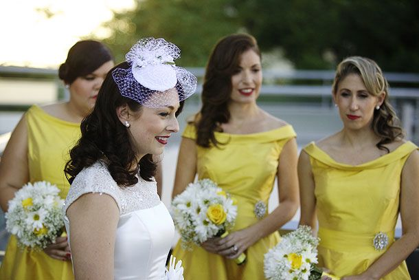 Dave Tutera Mad Men Wedding - Bride and Bridesmaids