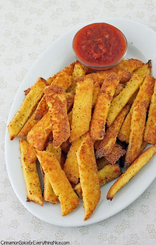 Baked Polenta Fries Recipe — Dishmaps