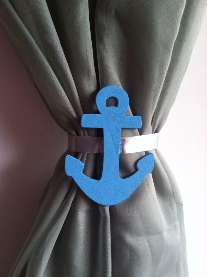 Nursery curtains tie back : Nautical curtain tie backs