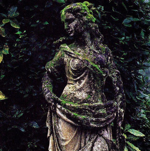 mossy statue