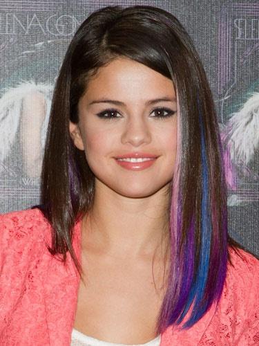 Selena Gomez hair. Pink, purple & blue! | Hair! | Pinterest