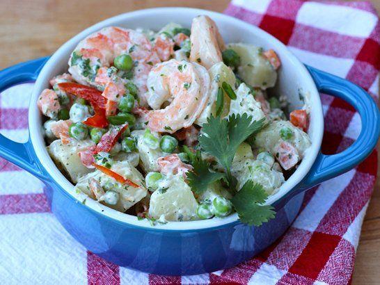 Potato Salad with Shrimp | QueRicaVida.com