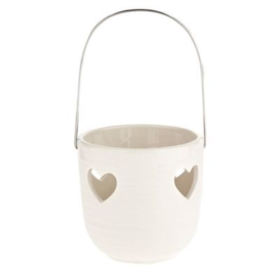 Cream Cut Out Heart Candle Holder   Ceramic   Pinterest