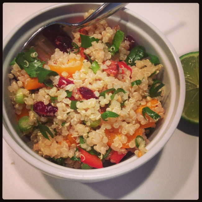 toasted almond, cranberry quinoa salad | Simone's edible adventures ...