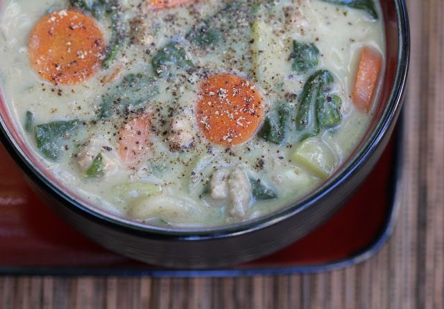 What's Cookin' with Mary?: Creamy Turkey & Potato Soup with Spina...