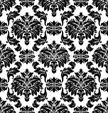 Vector. Seamless damask pattern Royalty Free Stock Vector Art Illustration  @Rachael Mackenzie likes this one.