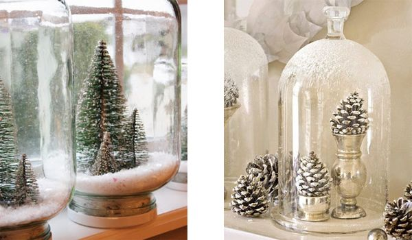 Decorating with christmas glass jars christmas decor pinterest
