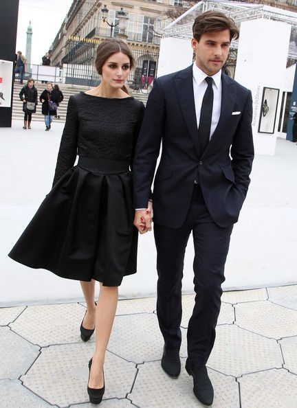 Black A-line Dress - In This Photo: Olivia Palermo, Johannes Huebl  (March 3, 2012 - Source: FameFlynet Pictures)