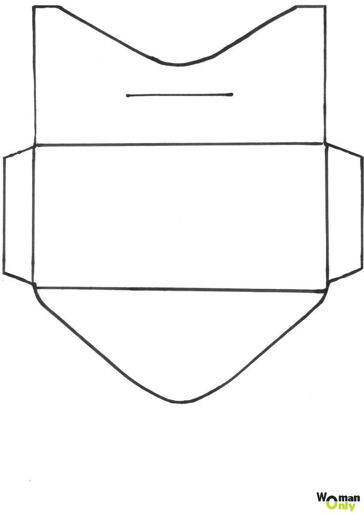 Шаблон конверта своими руками из а4 16