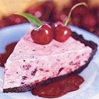 Chocolate-Cherry Ice Cream Pie with Hot Fudge Sauce by SELF