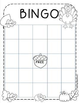 Autumn Bingo Sheet | For Kindergarten | Pinterest