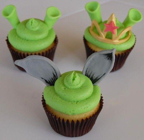 shrek cupcakes!