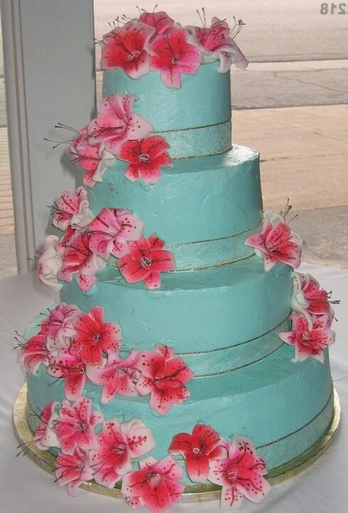 stargazer lily cakes