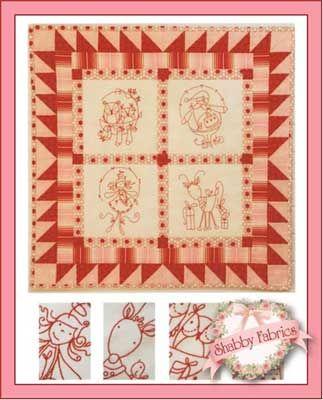 Raspberry cream this joyful wall hanging pattern features beautiful