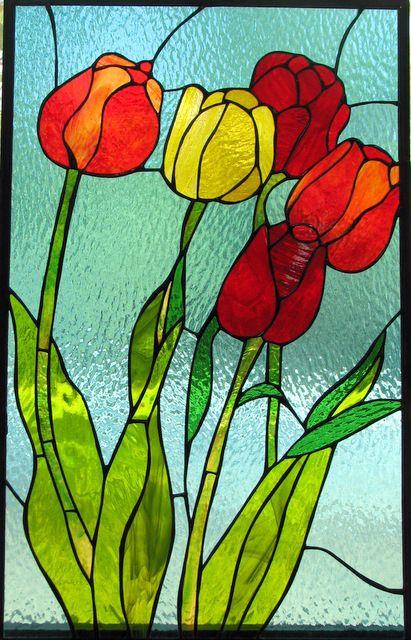Витраж цветок