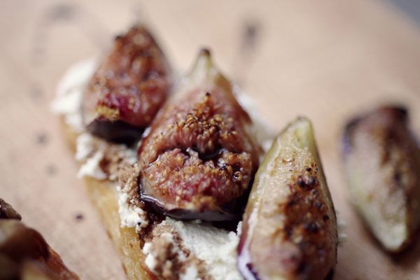 roasted fig and ricotta crostini. yummy, but more steps involved than ...