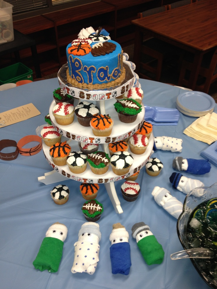 sports theme baby shower party ideas pinterest