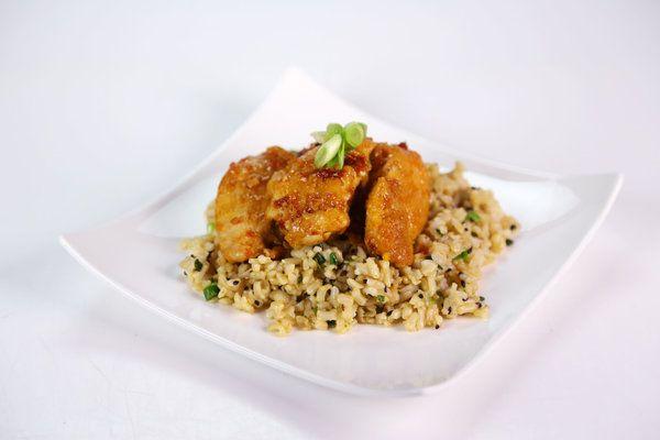 LightenedUp General Tso's Chicken w/Scallion Brown Rice. From Daphne ...